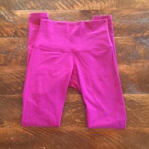 Lululemon high waist pink/purple leggings size 6